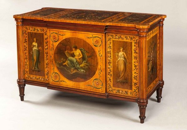 OnlineGalleries.com - An Antique Commode Decorated in the Adam Manner