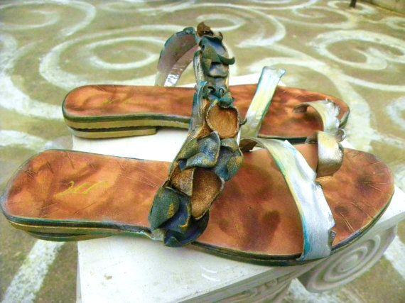 Santorini 5 Hand-made Leather Sandal  by GreekSandalsMelahris