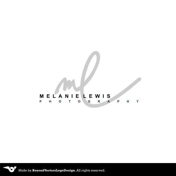 Handwritten initials, Watermark Photography Logo Initials Signature Logo M and L Letters  Premade Custom logo,  Modern logo Script , Cursive by BVLogoDesign on Etsy