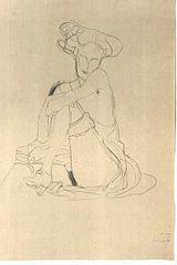 Klimt - Sitzende Frau mit aufgestützen linken Bein.jpg