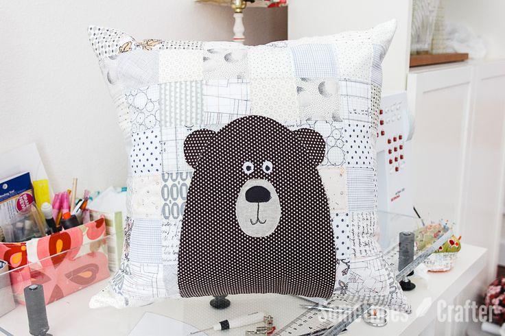 Patchwork Bear Pillow Tutorial