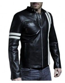 Stylo Biker Leather Jacket Mens at www.styloleather.com #Menstyle #Mensfashion #Mensleatherjacket