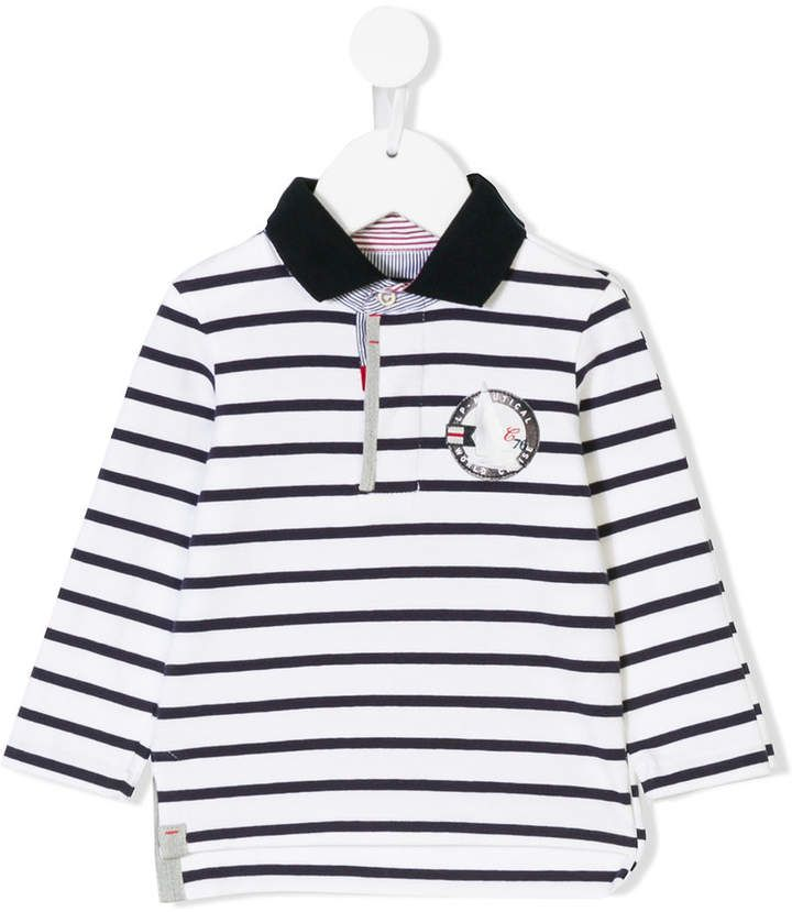 Lapin House striped long sleeve polo shirt  soft cotton designs ... dc7526d2577