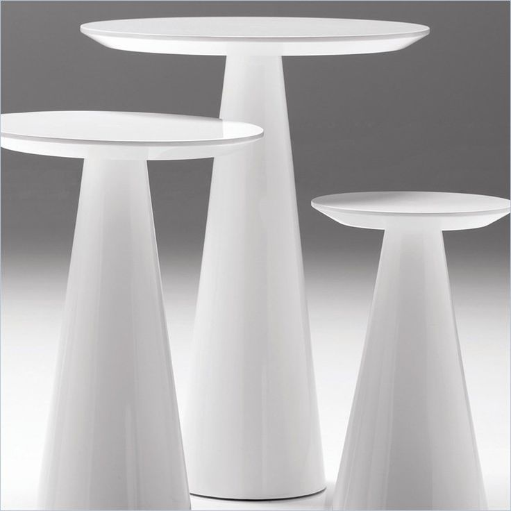 Mobital Tower Tall End Table In High Gloss White