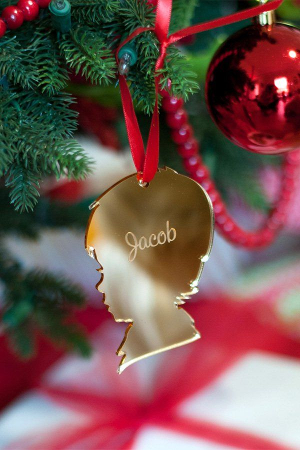 Personalized Vintage Silhouette Acrylic Christmas Ornament Silhouette Christmas Ornaments Christmas Ornaments Gifts Silhouette Christmas