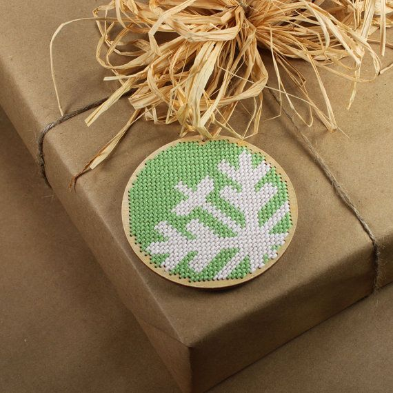 I love the needle point christmas ornament!