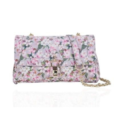 The Florist Wide Cross Body Bag in Pink by LYDC