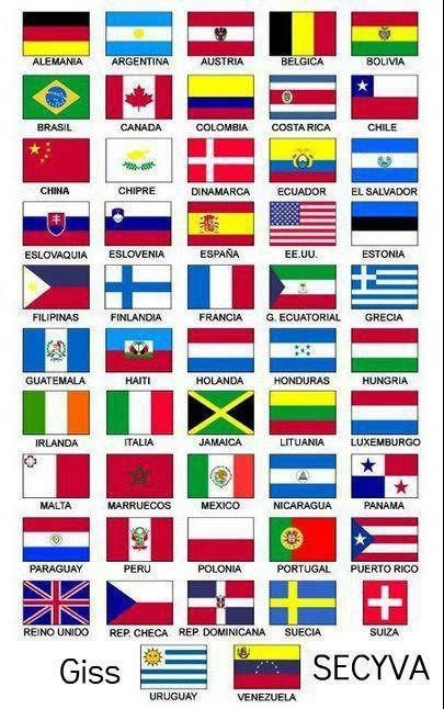 Varias banderas....la mía...Venezuela
