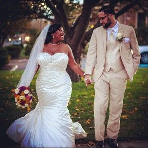 This bride, who showed that a mermaid style looks banging on any body:   26 Curvy Brides Who Nailed The Wedding Dress Game