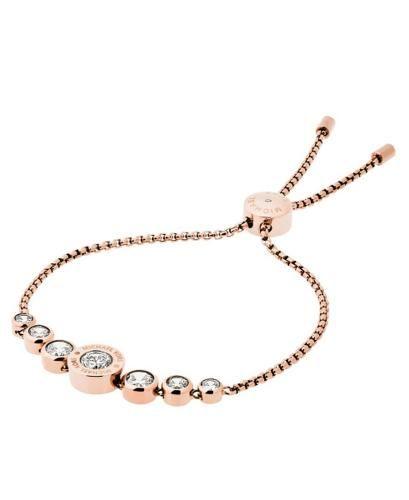 MICHAEL KORS Chains & Elements Modell: MKJ5336791  Das mit einem Zugverschluss ausstaffierte Armband für Damen von Michael Kors hat in der Mitte feste Elemente, die durch funkelnde Klarglassteine bestechen. Es lässt sich lässig kombinieren.