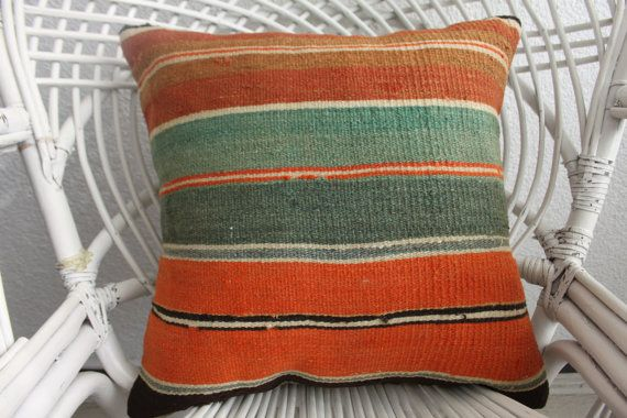 orange cushion cover 18x18 pillow forms decorative pillows western cushion cover turkish boho bedroom pillow case striped kilim pillow 923