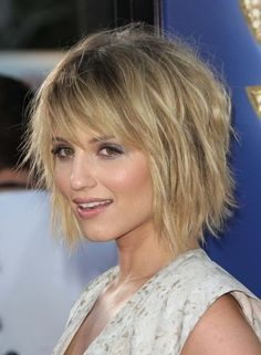 The choppy short hairstyle has subtle layers cut around the edges to encourage the bounce and movement of short textured style. A combination of medium to long layers cut throughout the back and sides of the look brings the layered bob natural movement that is gorgeous for people with fine to medium hair. The lighter[Read the Rest]