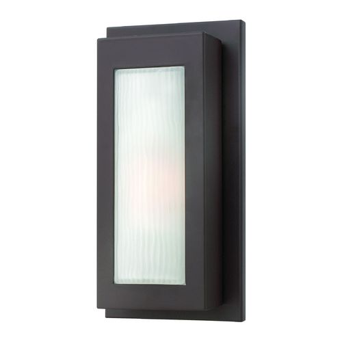 Modern Outdoor Wall Light with White Glass in Buckeye Bronze Finish | 2050KZ | Destination Lighting