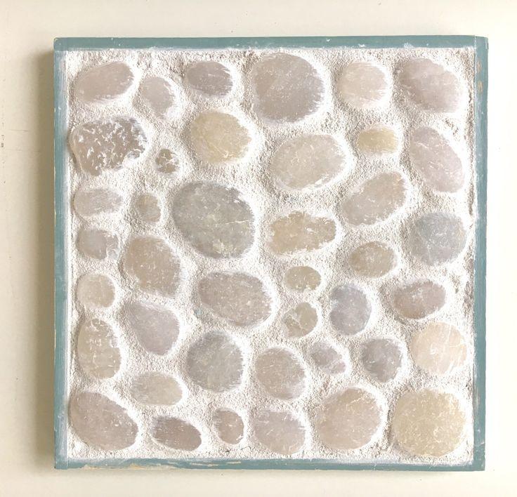 Mosaic trivet, modern trivet, beach pebbles,  tile trivet, coastal decor, beach house decor. Sea green, wood, nature decor, topsail, nc by SweepOfSand on Etsy https://www.etsy.com/listing/505558352/mosaic-trivet-modern-trivet-beach
