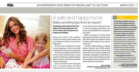 Check out #JPMA in Expecting Parent Magazine! Read about how to prepare for baby in a safe and happy home