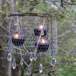 you probably already have the main ingredients of this nighttime chandy theyre most likely in your garden shed add some bling to your summer patio