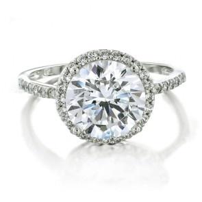 Vintage Brilliant Cut CZ Engagement Ring