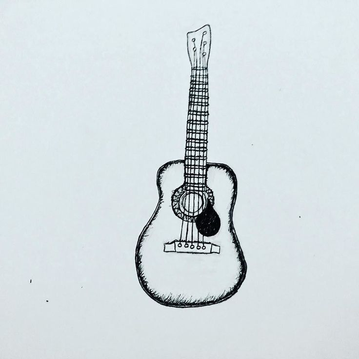 Guitar doodle for prints. Finding the groove on it. #guitar #illustration #design #tshirt #tshirtdesign #fineliner #acousticguitar