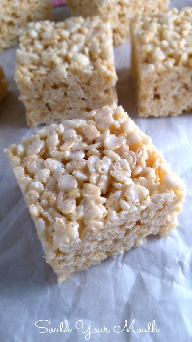 These rice krispie treats are ridiculous. And that's why I love them more than any other rice...