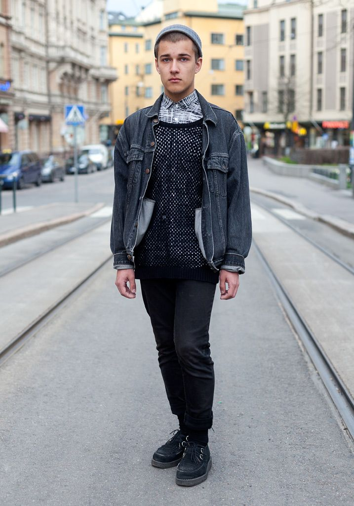 Eetu - Hel Looks - Street Style from Helsinki: 90S Movie, Style Tabs, Dresses Shirts, Levis Jackets, Laitinen Dresses, Street Styles, Custom Jeans, Blog Streetstyl, Favourit Hel