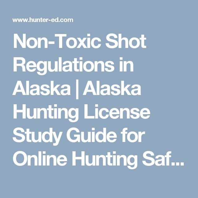 Non-Toxic Shot Regulations in Alaska | Alaska Hunting License Study Guide for Online Hunting Safety Course