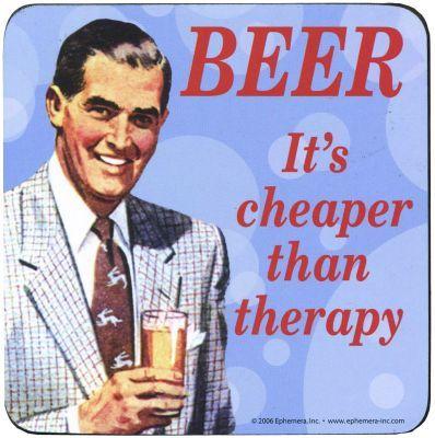 Kitsch.fi - Lasinalunen hmb (1 kpl), Beer vs. Therapy