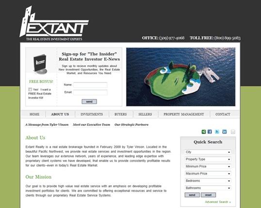 Extant Realty Website