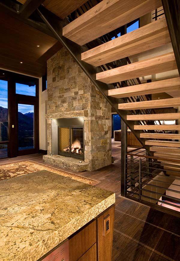 Meer dan 1000 afbeeldingen over bergen huis op pinterest - Trap metaal hout ...