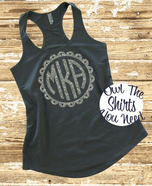 Preppy Monogrammed Tank Top Next Level By