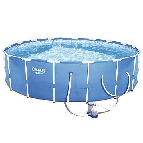 Outdoor Swimming Pool 12 Feet Frame Set w/ Pump Summer Garden Yard Kids Adults  #Bestway