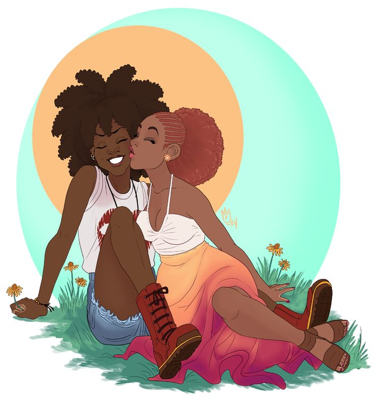 "sephiramy: ""I wanted to Draw Some Cute tonight, realized that I could literally do that any time I wanted, and then looked up a girl from like two chapters back to smooch with Bea (after chatting her..."