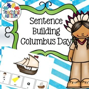 Columbus Day Sentence Building, Autism, Spec EdThis is a sentence building book based on Columbus Day. Students have to build a sentence with 4 words for what they see. For example - I see an island, I see a ship.This is one of the basic stages of sentence building so it is basic grammar i.e no . (scheduled via http://www.tailwindapp.com?utm_source=pinterest&utm_medium=twpin&utm_content=post107057919&utm_campaign=scheduler_attribution)