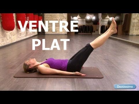 ▶ Fitness ventre plat - Exercices de pilates pour perdre du ventre - YouTube
