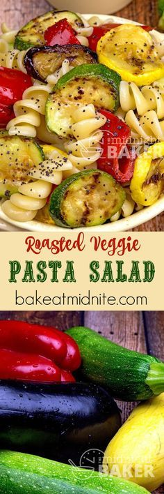 Grilled Veggie Pasta Salad ~ grill roasted veggies are added to the mix in this perfect pasta salad!