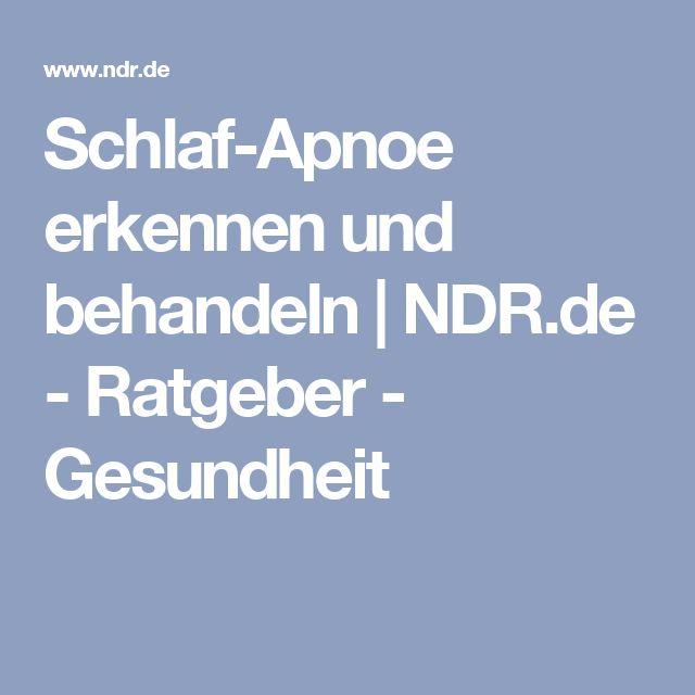 Schlaf-Apnoe erkennen und behandeln | NDR.de - Ratgeber - Gesundheit