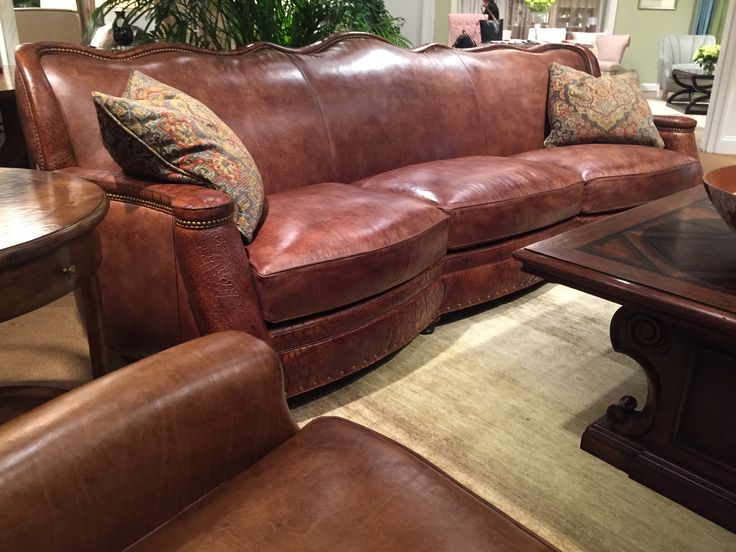 Hancock Amp Moore Leather Sofa High Point Nc Spring