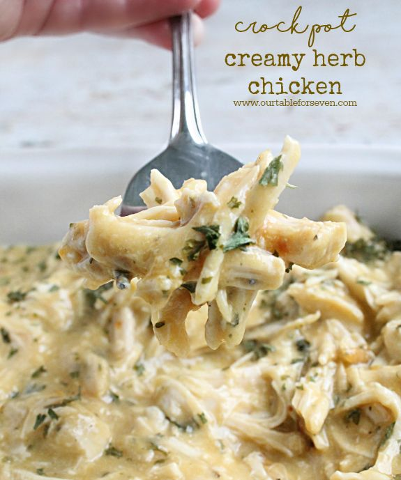 Crock Pot Creamy Herb Chicken