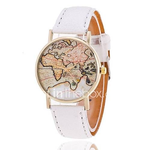[Rs351] Unisex World Map Style Watch/Vintage World Map Women Premium Faux Leather Wristwatch Cool Watches Unique Watches Fashion Watch-I like this. Do you think I should buy it?
