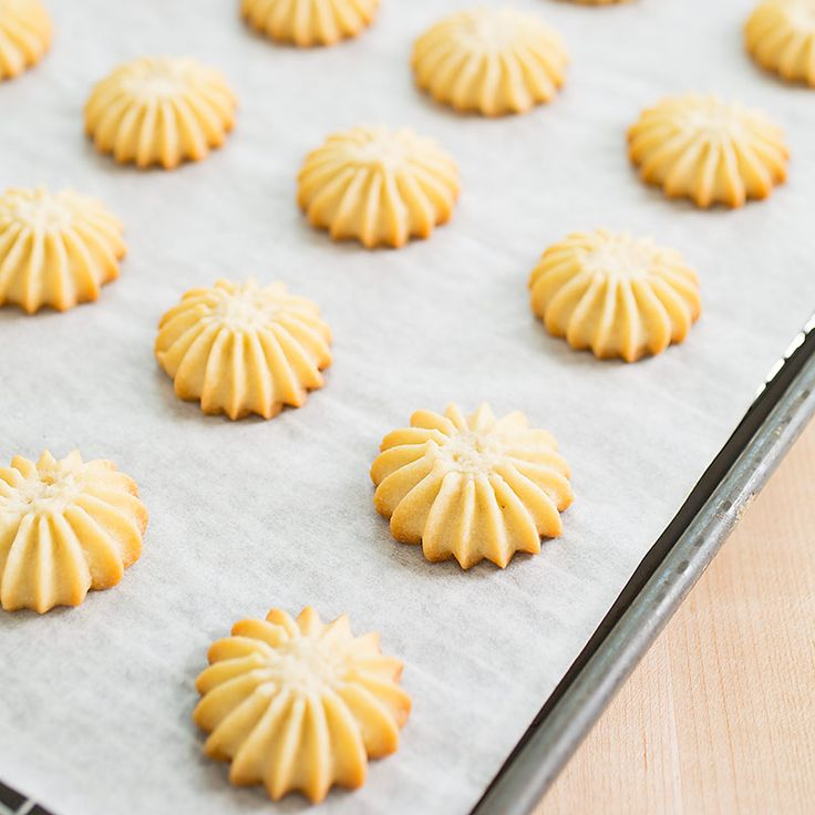 Managing a finicky ingredient list is the main challenge in baking Spritz Cookies. We found portions—a drop of heavy cream, one egg yolk—were the key to success. The results? A beautifully formed, crunchy treat.