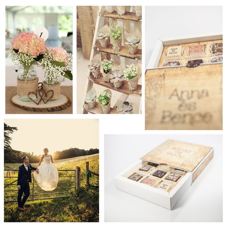 Country design wedding chocolate package gifts