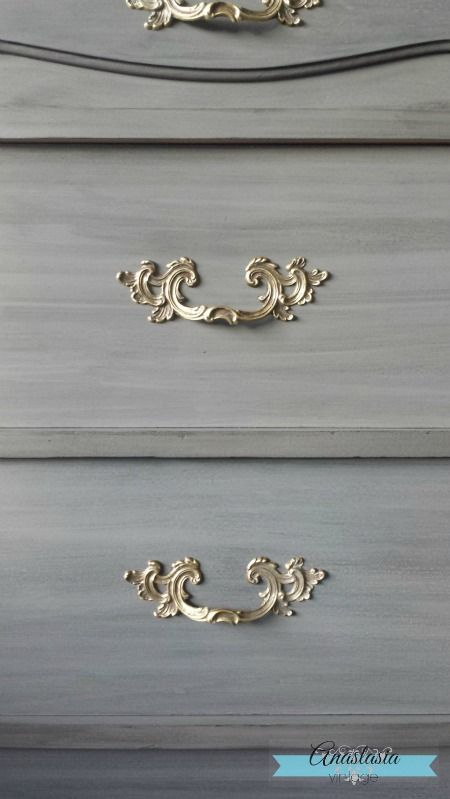 Frendh Provincial in General Finishes Driftwood Milk Paint with Pitch Black Glaze Effects