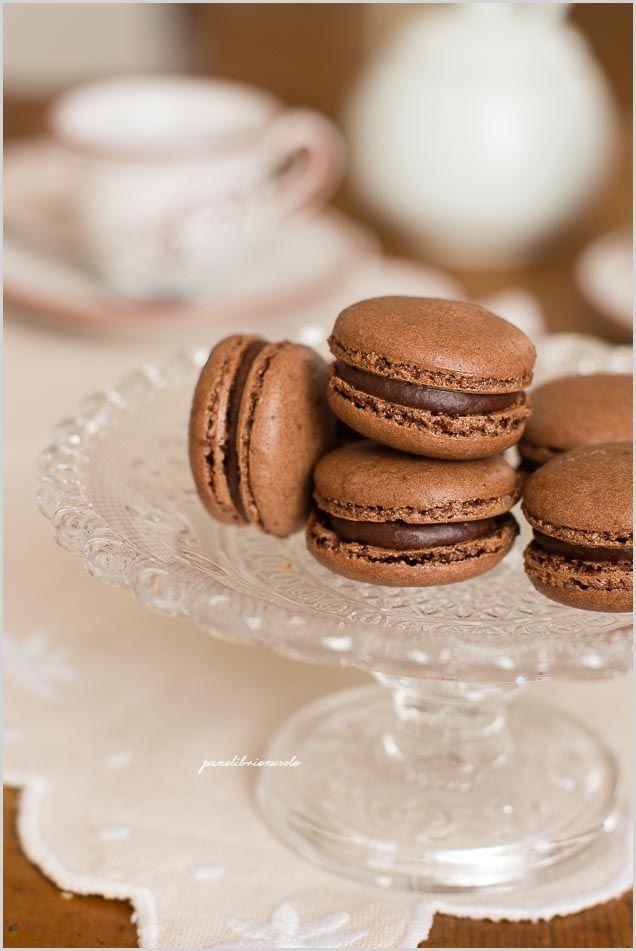 Macaron al cacao e ganache al caffè - Coffe cocoa macaron