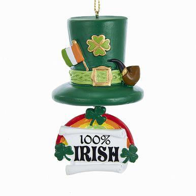 Kurt Adler Irish Hat & Rainbow Ornament #J8430