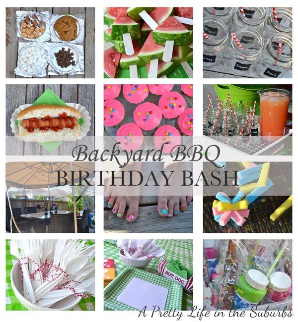 Backyard BBQ Birthday Party Ideas