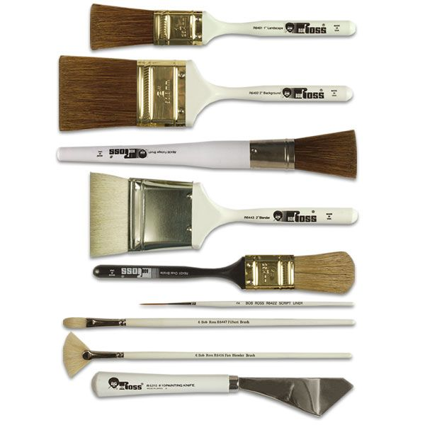 Bob Ross Oil Painting Brushes and Knives This could easily be translated as a wishlist of gifts that would make me squeal with delight.