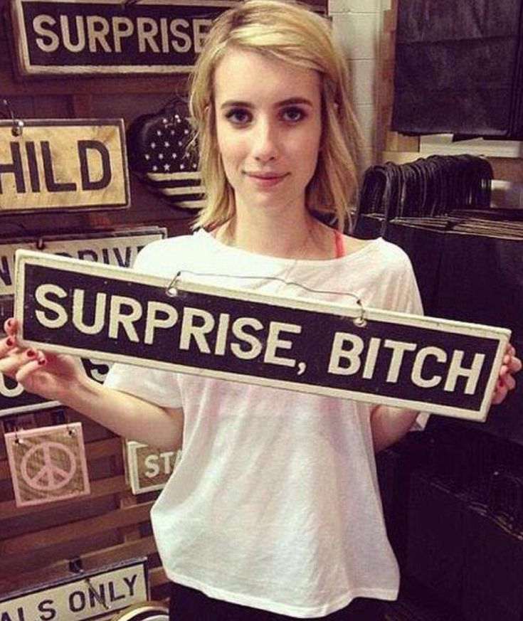 Madison Montgomery's Iconic AHS Coven Line. Surprise, Bitch! Emma Roberts. Follow rickysturn/american-horror-story