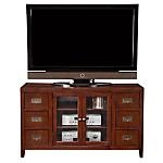"Allow the beauty of the Hawken to envelop your senses.  All-wood construction.  Rich chocolate finish.  Transitional nature of design has elements of contemporary and traditional, making decorating a snap.  Antiqued, bail-pull hardware.  Holds most Flat Panel TV's up to 58"".  View our wide assortment of TV stands online or visit a store close to home.    SKU: 1443518 - Hawken TV Stand   TV Stand - 52""W x 18""D x 30""H"