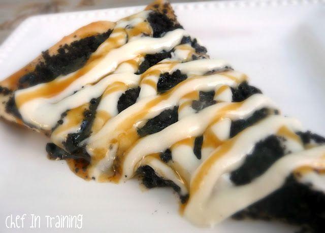 Oreo pizza recipe  (also, cookie dough pizza recipe and cream cheese glaze)