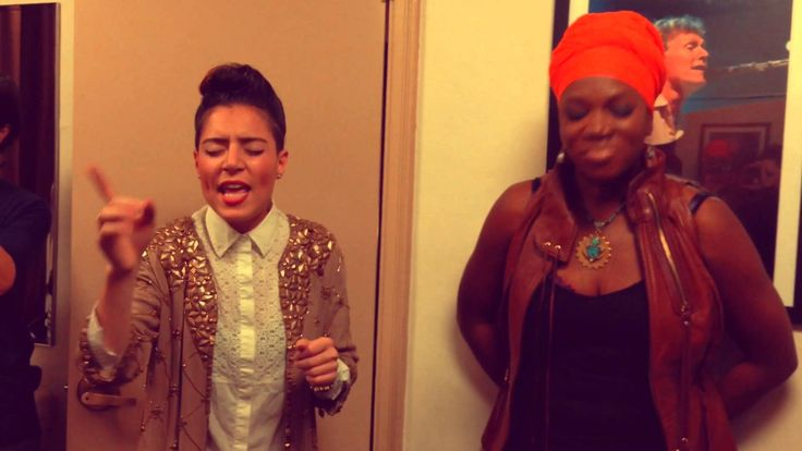 Favs!!! ---Emily King sings Radio with India Arie backstage at The Beacon Theater, ...