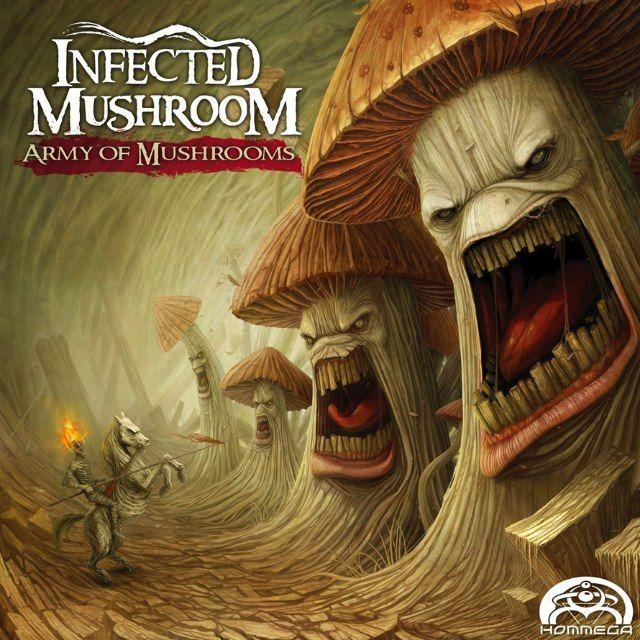 Army of MushroomsArmy, Music, Album Covers, Infection Mushrooms, Digital Illustration, Anton Semenov, Hq Audio, Covers Art, Design